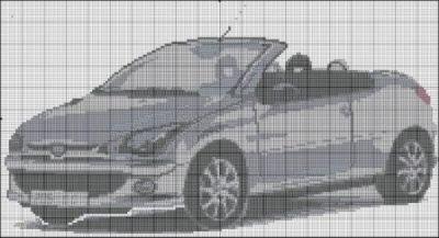 Схема вышивки крестом машина фото 448